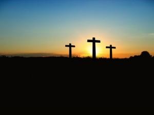 sunset-crucifixion