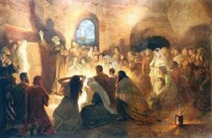 Первые христиане в катакомбах